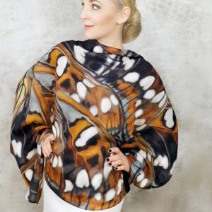 chusta naturalna tkanina w motyle