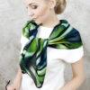 apaszka zielona elegancka dla kobiety
