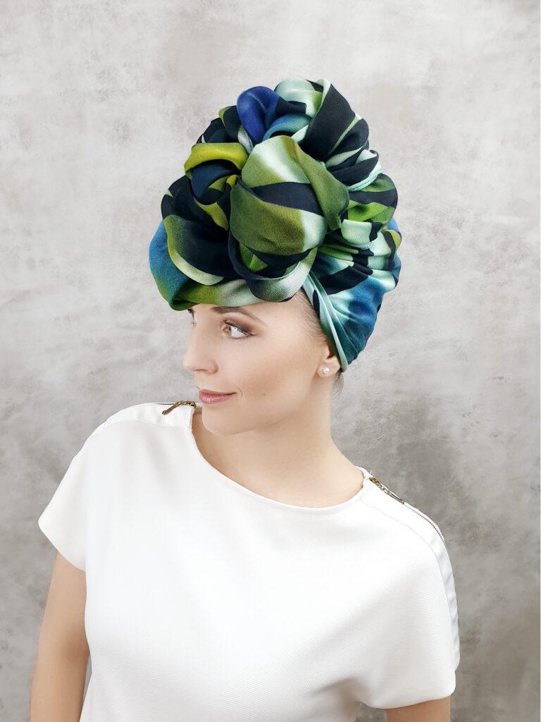 efektowny turban z chusty jak zrobić