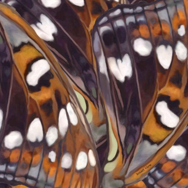 Szal z grafiką w motyle, tkanina naturalna modal