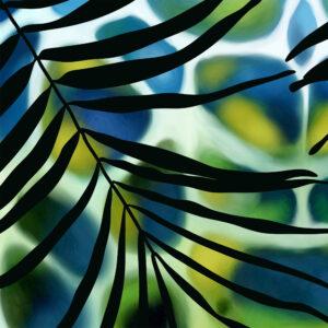 Szal z grafiką, tkanina naturalna modal