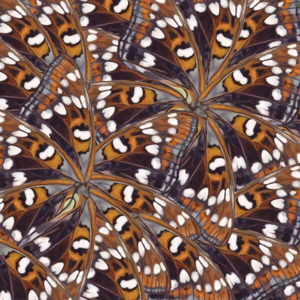 apaszka chusta w motyle 140cm